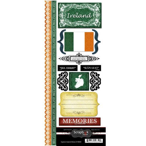 Scrapbook Customs - World Collection - Ireland - Cardstock Stickers - Explore