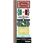 Scrapbook Customs - World Collection - Mexico - Cardstock Stickers - Explore
