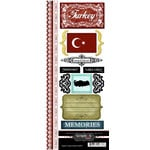 Scrapbook Customs - World Collection - Turkey - Cardstock Stickers - Explore