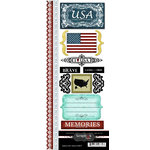 Scrapbook Customs - World Collection - USA - Cardstock Stickers - Explore