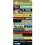Scrapbook Customs - World Collection - Egypt - Cardstock Stickers - Explore - Alexandria