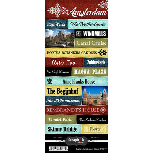 Scrapbook Customs World Netherlands Cardstock Stickers Explore Amsterdam