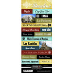 Scrapbook Customs - World Collection - Spain - Cardstock Stickers - Explore - Barcelona