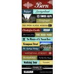 Scrapbook Customs - World Collection - Switzerland - Cardstock Stickers - Explore - Bern