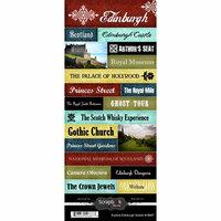 Scrapbook Customs - World Collection - Scotland - Cardstock Stickers - Explore - Edinburgh