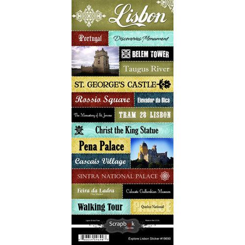 Scrapbook Customs - World Collection - Portugal - Cardstock Stickers - Explore - Lisbon