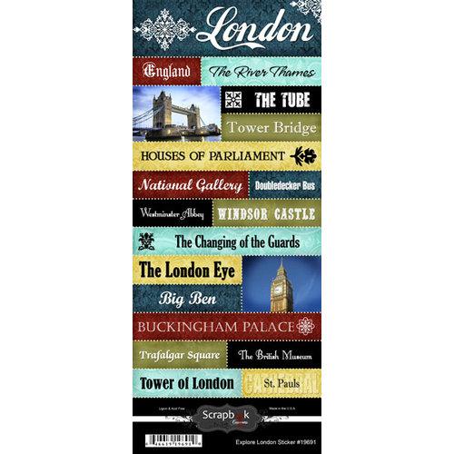 Scrapbook Customs - World Collection - England - Cardstock Stickers - Explore - London