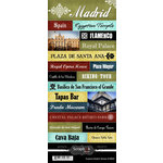 Scrapbook Customs - World Collection - Spain - Cardstock Stickers - Explore - Madrid