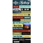 Scrapbook Customs - World Collection - Australia - Cardstock Stickers - Explore - Sydney
