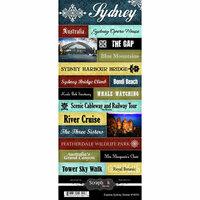 Scrapbook Customs - World Collection - Australia - Cardstock Stickers - Explore - Sydney