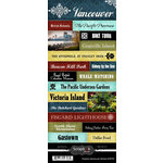 Scrapbook Customs - World Collection - Canada - Cardstock Stickers - Explore - Vancouver