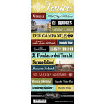 Scrapbook Customs - World Collection - Italy - Cardstock Stickers - Explore - Venice