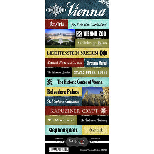 Scrapbook Customs World Collection Austria Cardstock Stickers Explore Vienna