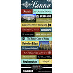 Scrapbook Customs - World Collection - Austria - Cardstock Stickers - Explore - Vienna