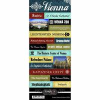 Scrapbook Customs - World Collection - Austria - Cardstock Stickers - Explore - Vienna