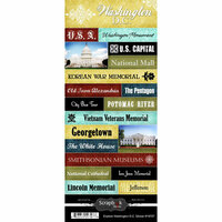 Scrapbook Customs - World Collection - USA - Cardstock Stickers - Explore - Washington DC