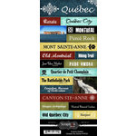 Scrapbook Customs - World Collection - Canada - Cardstock Stickers - Explore - Quebec