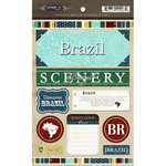 Scrapbook Customs - World Collection - Brazil - Cardstock Stickers - Exploring