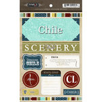 Scrapbook Customs - World Collection - Chile - Cardstock Stickers - Exploring