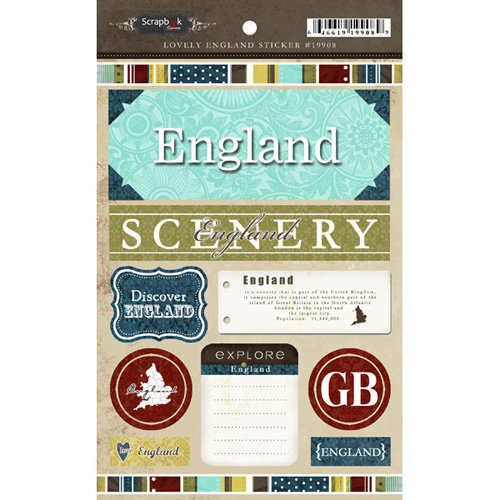 Scrapbook Customs - World Collection - England - Cardstock Stickers - Exploring