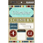 Scrapbook Customs - World Collection - Gibraltar - Cardstock Stickers - Exploring