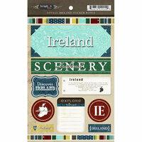 Scrapbook Customs - World Collection - Ireland - Cardstock Stickers - Exploring