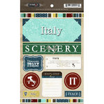 Scrapbook Customs - World Collection - Italy - Cardstock Stickers - Exploring