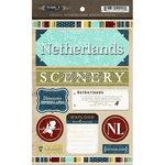 Scrapbook Customs - World Collection - Netherland - Cardstock Stickers - Exploring