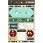 Scrapbook Customs - World Collection - Vietnam - Cardstock Stickers - Exploring