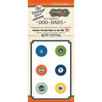 Scrapbook Customs - Vintage Label Collection - Vintage Doo Dads - Self Adhesive Metal Badges - Maine
