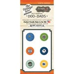 Scrapbook Customs - Vintage Label Collection - Vintage Doo Dads - Self Adhesive Metal Badges - Nevada