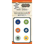 Scrapbook Customs - Vintage Label Collection - Vintage Doo Dads - Self Adhesive Metal Badges - Pennsylvania
