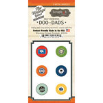 Scrapbook Customs - Vintage Label Collection - Vintage Doo Dads - Self Adhesive Metal Badges - Wyoming