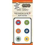 Scrapbook Customs - Vintage Label Collection - Vintage Doo Dads - Self Adhesive Metal Badges - Wyoming
