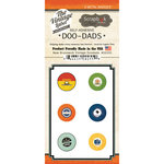 Scrapbook Customs - Vintage Label Collection - Vintage Doo Dads - Self Adhesive Metal Badges - New Brunswick