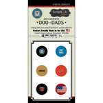 Scrapbook Customs - Military Collection - Doo Dads - Self Adhesive Metal Badges - Coast Guard Values