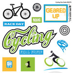 Scrapbook Customs - Sports Pride Collection - Doo Dads - Self Adhesive Metal Badges - Cycling