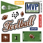 Scrapbook Customs - Sports Pride Collection - Doo Dads - Self Adhesive Metal Badges - Football