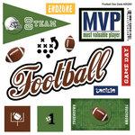 Scrapbook Customs - Sports Pride Collection - Doo Dads - Self Adhesive Metal Badges - Football