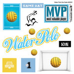 Scrapbook Customs - Sports Pride Collection - Doo Dads - Self Adhesive Metal Badges - Water Polo