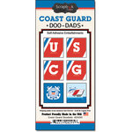 Scrapbook Customs - United States Military Collection - Self Adhesive Metal Badges - Coast Guard
