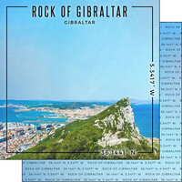 Scrapbook Customs - World Site Coordinates Collection - 12 x 12 Double Sided Paper - Gibraltar - The Rock