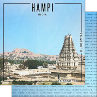 Scrapbook Customs - World Site Coordinates Collection - 12 x 12 Double Sided Paper - India - Hampi