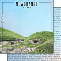 Scrapbook Customs - World Site Coordinates Collection - 12 x 12 Double Sided Paper - Ireland - Newgrange