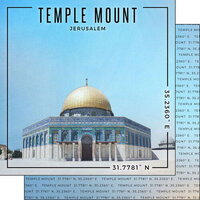 Scrapbook Customs - World Site Coordinates Collection - 12 x 12 Double Sided Paper - Israel - Jerusalem Temple Mount