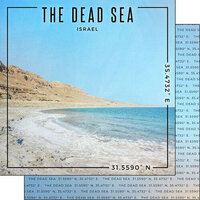Scrapbook Customs - World Site Coordinates Collection - 12 x 12 Double Sided Paper - Israel - The Dead Sea