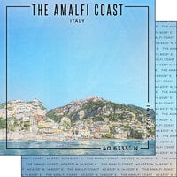 Scrapbook Customs - World Site Coordinates Collection - 12 x 12 Double Sided Paper - Italy - Amalfi Coast