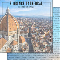 Scrapbook Customs - World Site Coordinates Collection - 12 x 12 Double Sided Paper - Italy - Florence Cathedral