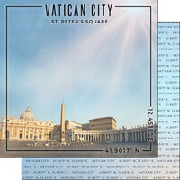 Scrapbook Customs - World Site Coordinates Collection - 12 x 12 Double Sided Paper - Italy - Vatican