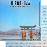 Scrapbook Customs - World Site Coordinates Collection - 12 x 12 Double Sided Paper - Japan - Hiroshima Memorial